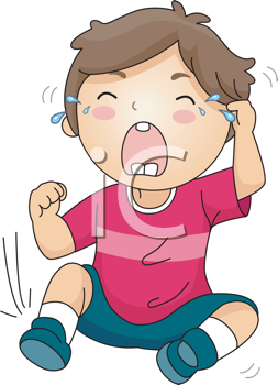 Royalty Free Clipart Image of a Crying Child #411875.