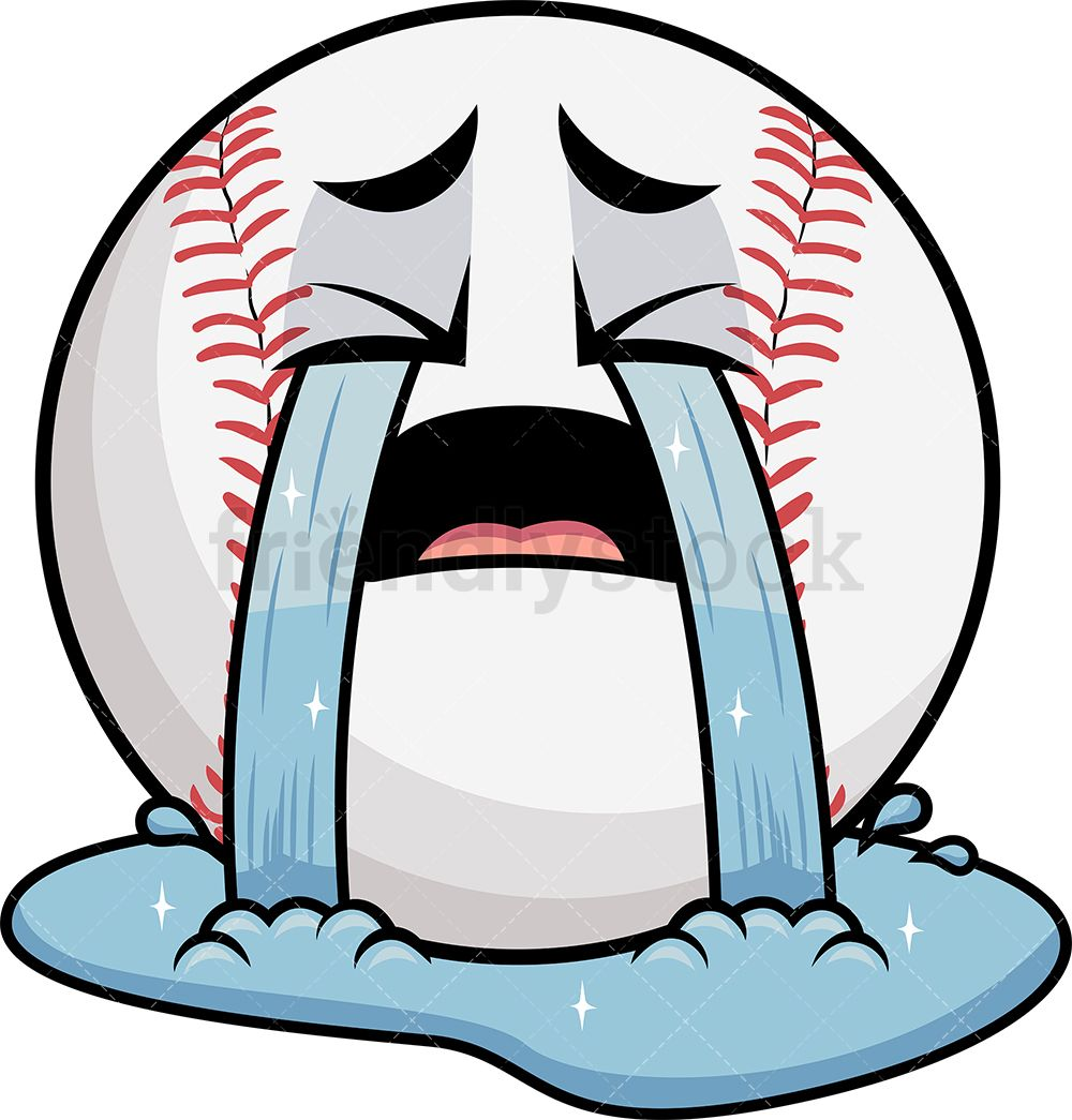 Crying Out Loud Baseball Emoji.