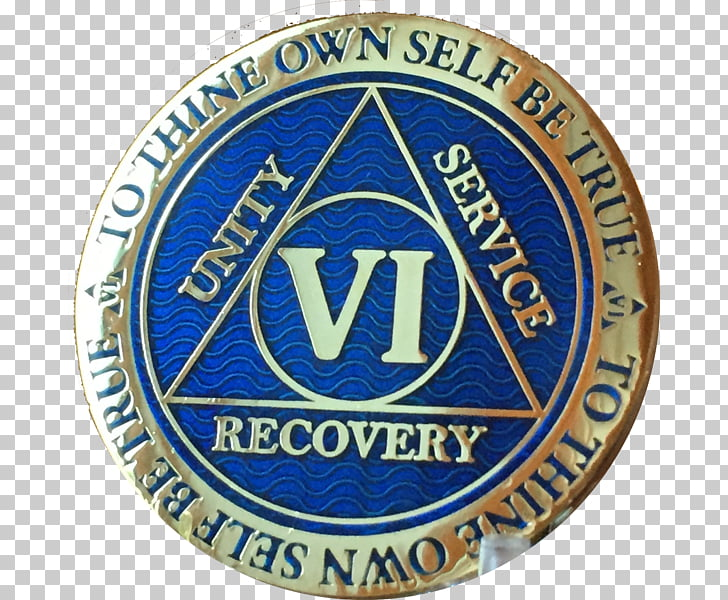 Alcoholics Anonymous Sobriety coin Gold plating, gold PNG.