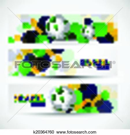 Clipart of Vector illustration brazil flag colors three bubbles.