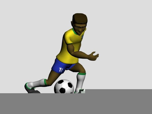 Animated Soccer Player Clipart.