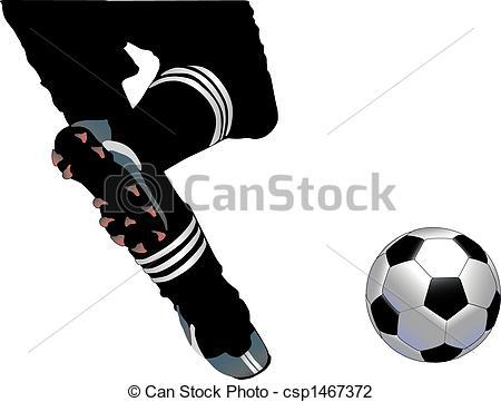 Clip Art of Soccer Kick.