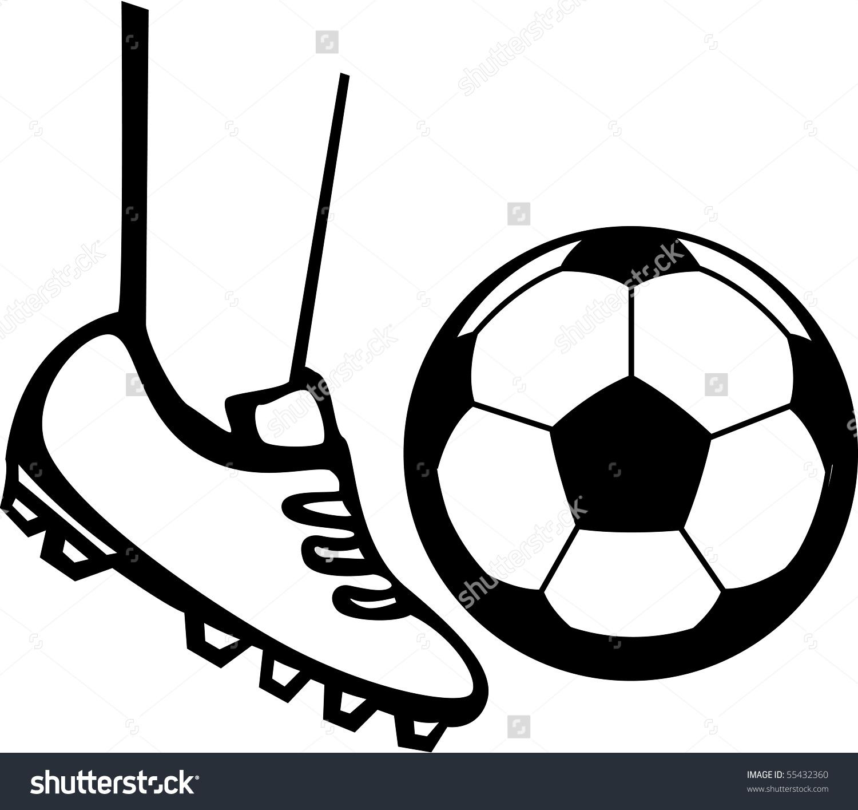 Kicking Soccer Ball Stock Illustration 55432360.