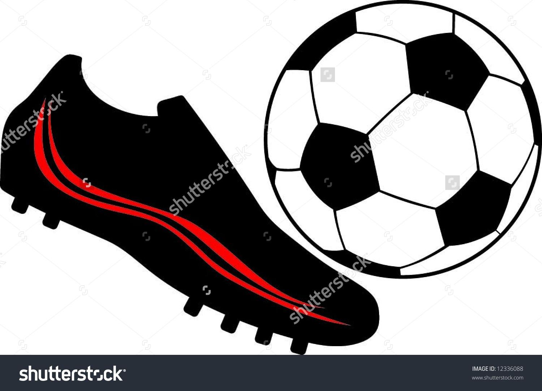 Soccer Shoes Ball Stock Vector 12336088.