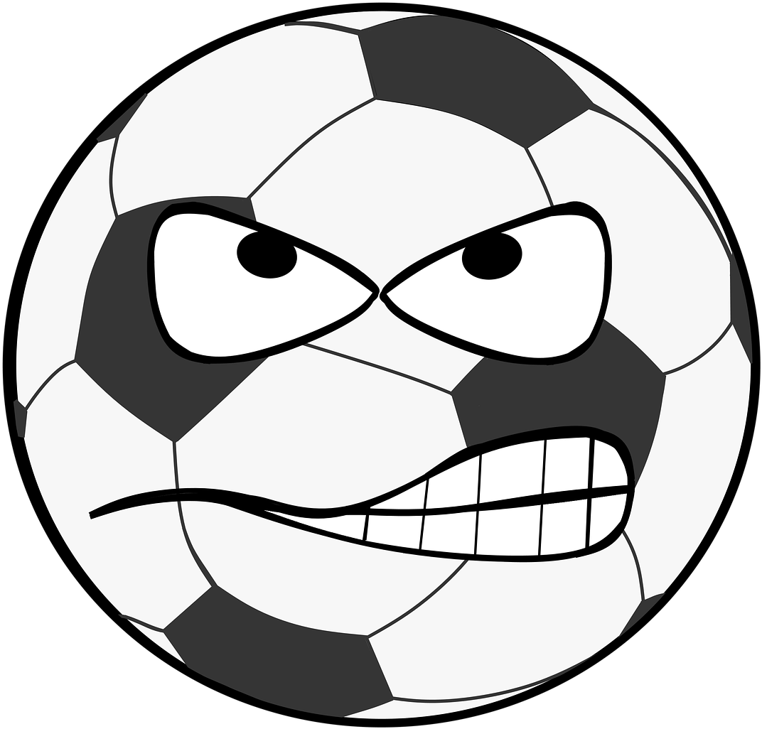 Football, Clip Art, Smiley, Evil, Flank, Shot, Goal.