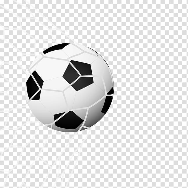Soccer ball , Football Icon, Ball in the net in the.