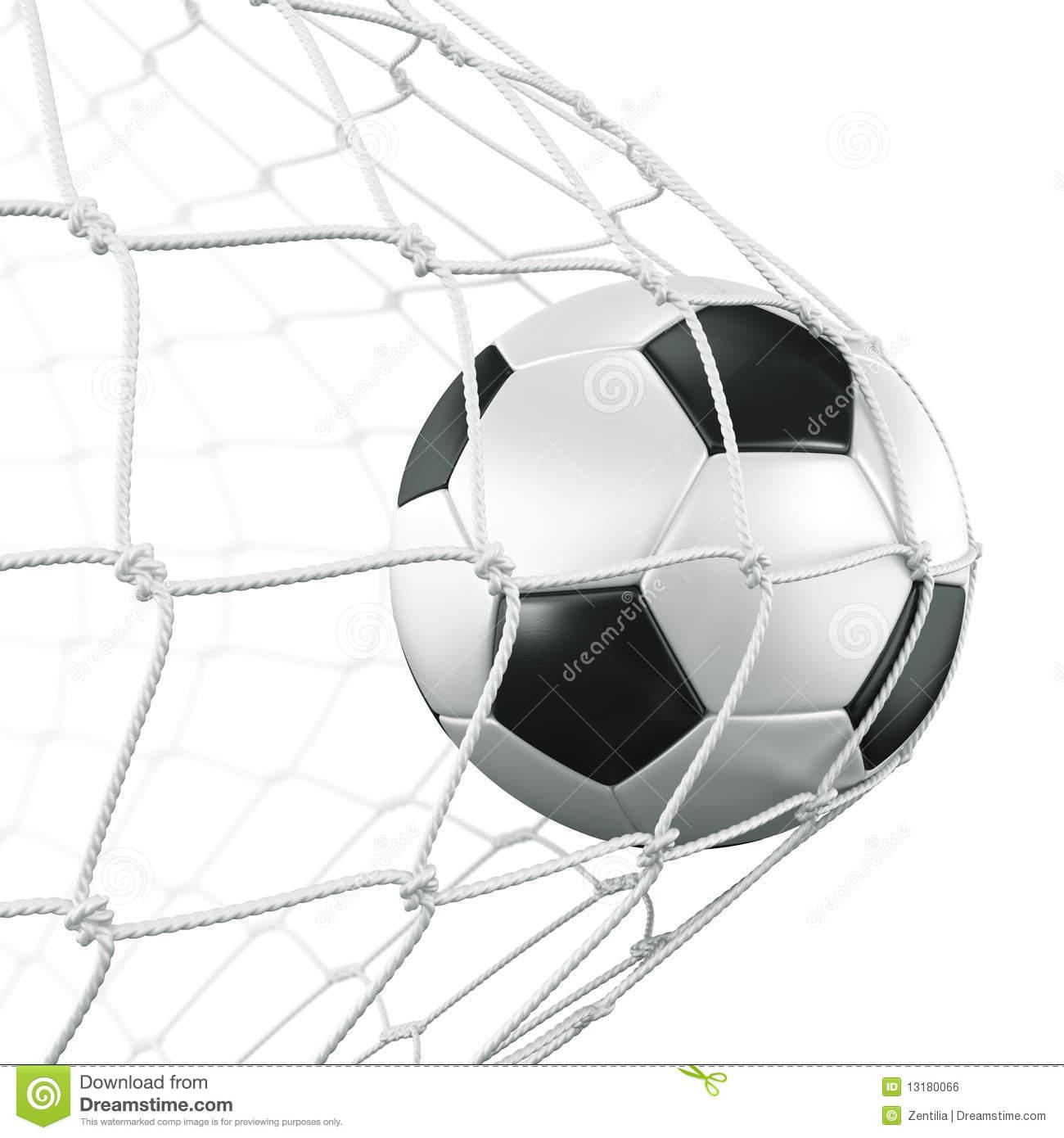 Soccer Ball In Net Clipart.