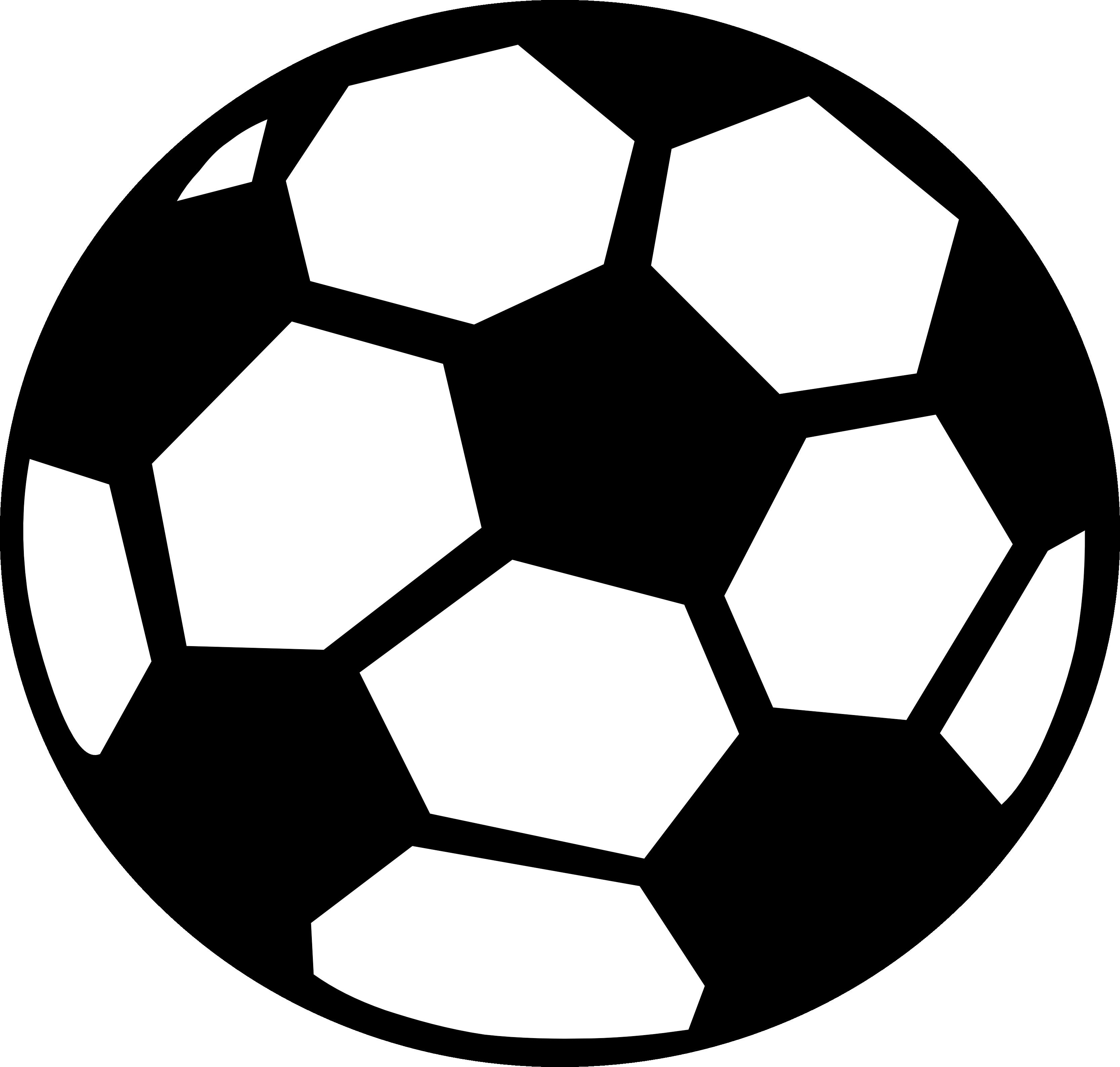 Soccer Ball Clip Art Black And White.