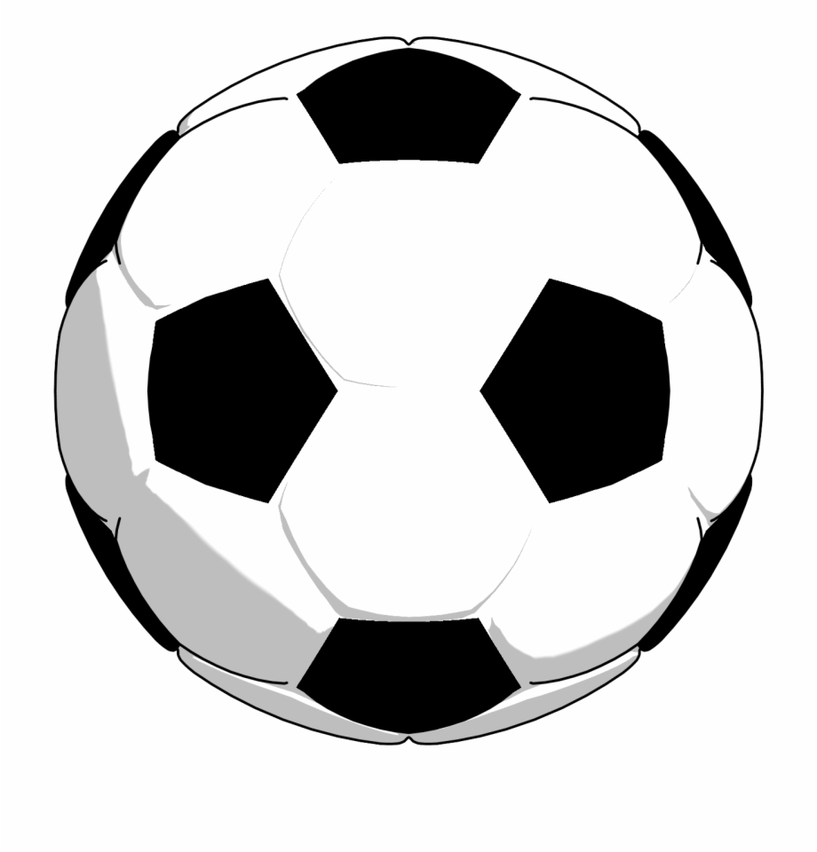 Black White Soccer Ball Clipart Png Picture.