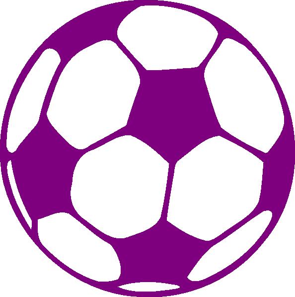 purple soccer ball.