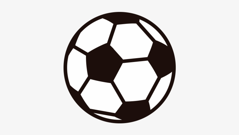 Soccer Ball Vector Png Clip Art Black And White Download.