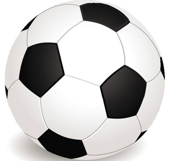 Soccer ball vector clip art eps file.