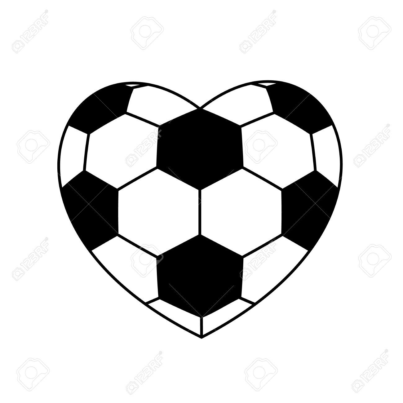 1,424 Soccer Heart Stock Vector Illustration And Royalty Free.