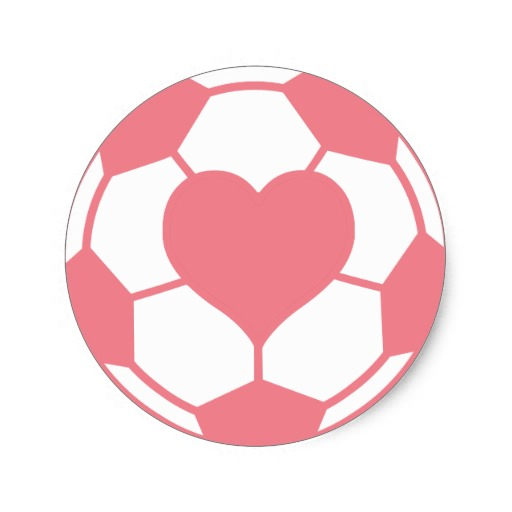 Free Pink Soccer Ball Clipart Image.