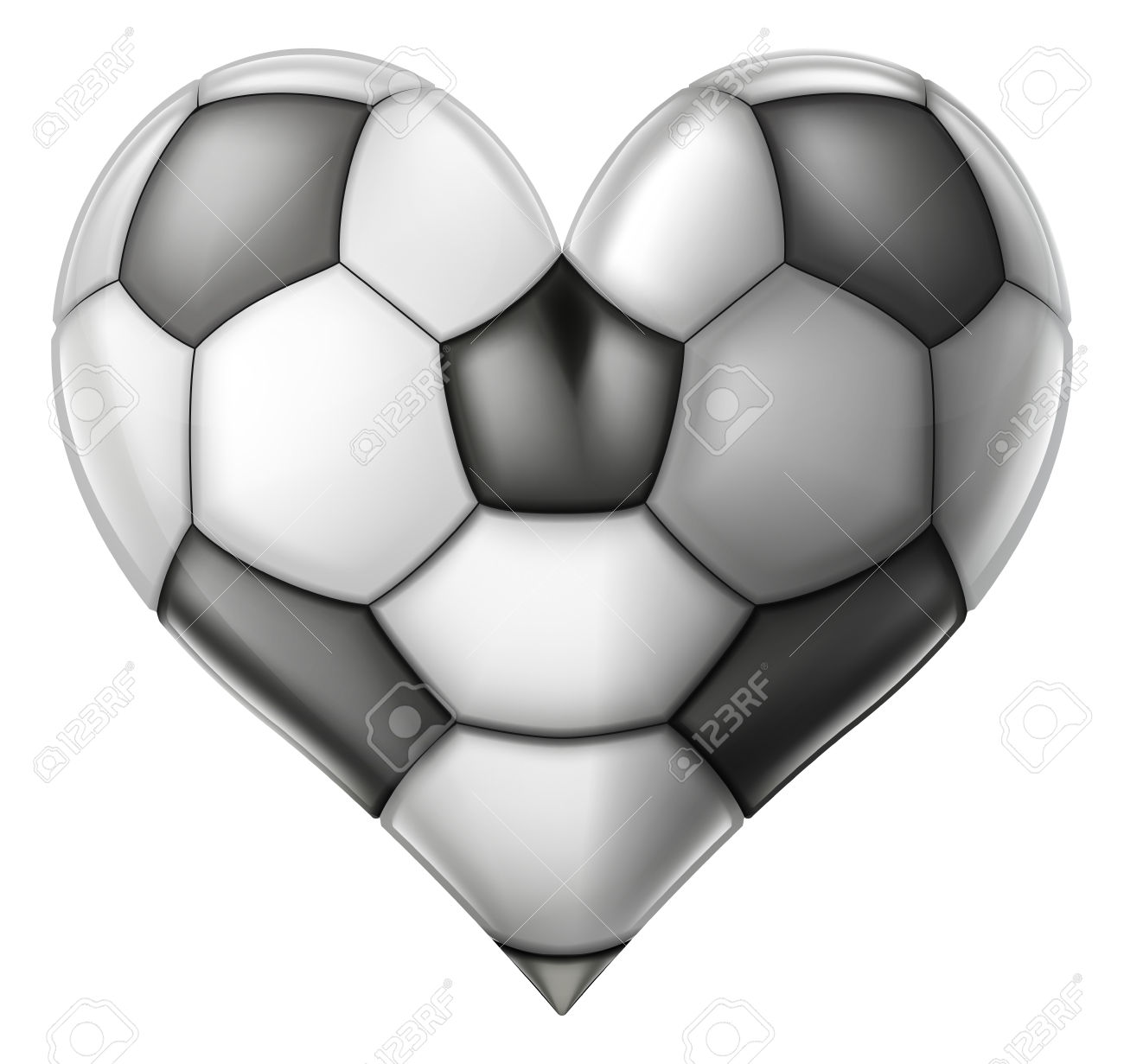 A Soccer Or Football Ball Heart, Conceptual Illustration For.
