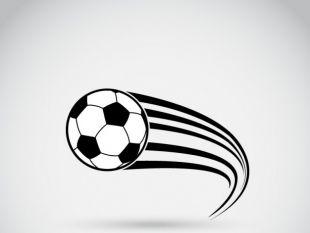 Soccer ball in motion.