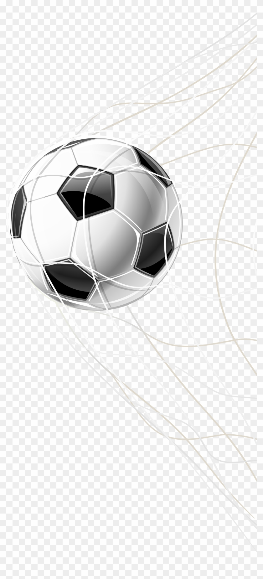 Soccer Goal In A Net Png Clip Art Image.
