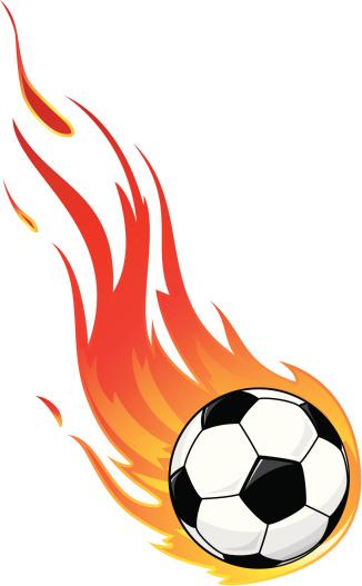 Fire Speed Soccer Ball Clip Art, Vector Images & Illustrations.