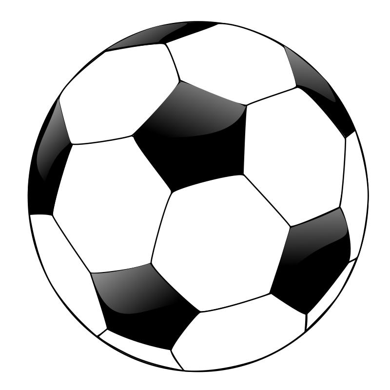 Soccer Ball Outline.