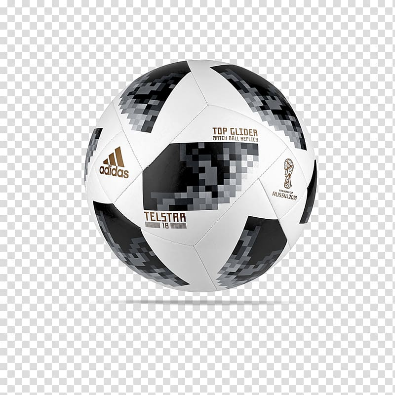 Black and white soccer ball, 2018 FIFA World Cup Adidas.