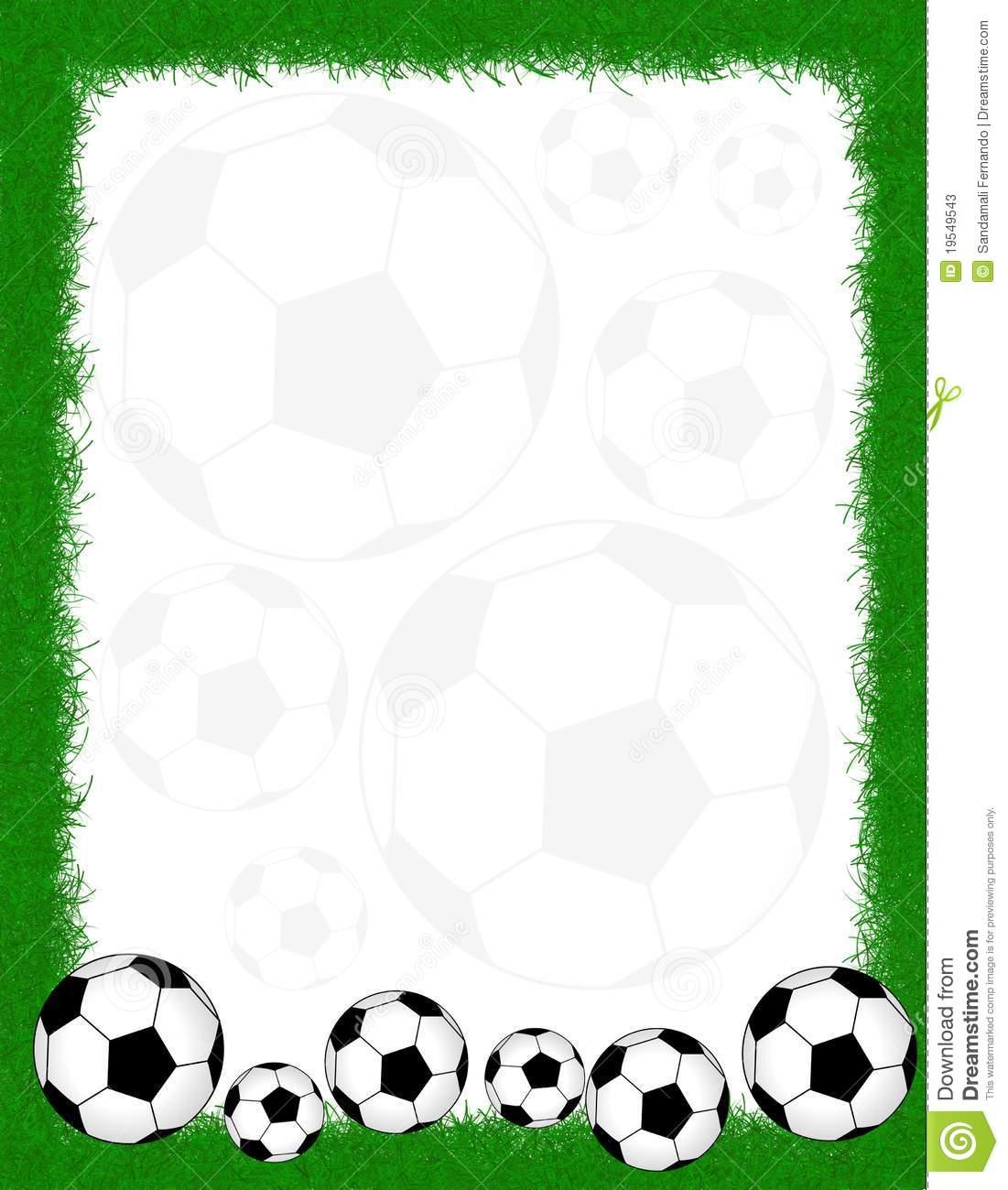 Soccer frame / border.