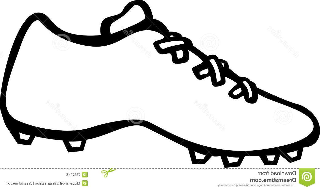 Soccer Cleat Clipart.