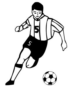 Soccer clipart 0.