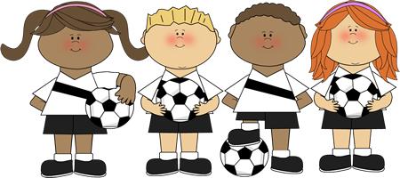 Kids Soccer Clipart.
