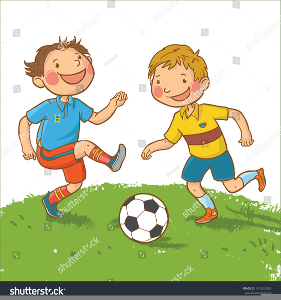 Clipart Pictures Children Playing Soccer.