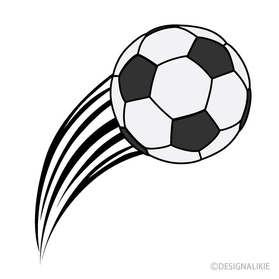 Free Curved Soccer Ball Clipart Image|Illustoon.