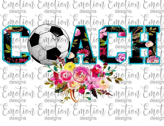 Soccer Coach Clipart, instant download, sublimation graphic.