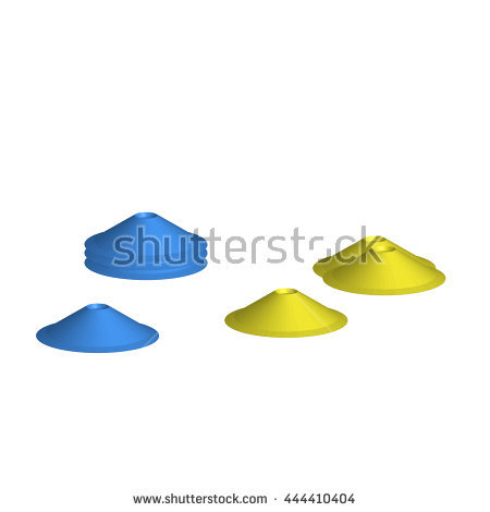 Soccer Cones Stock Images, Royalty.