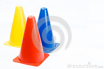 Training Cones Royalty Free Stock Image.