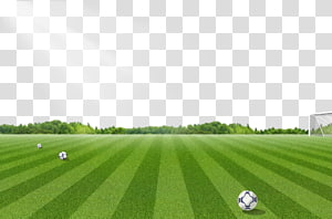 Three soccer fields, Football pitch 3D computer graphics.