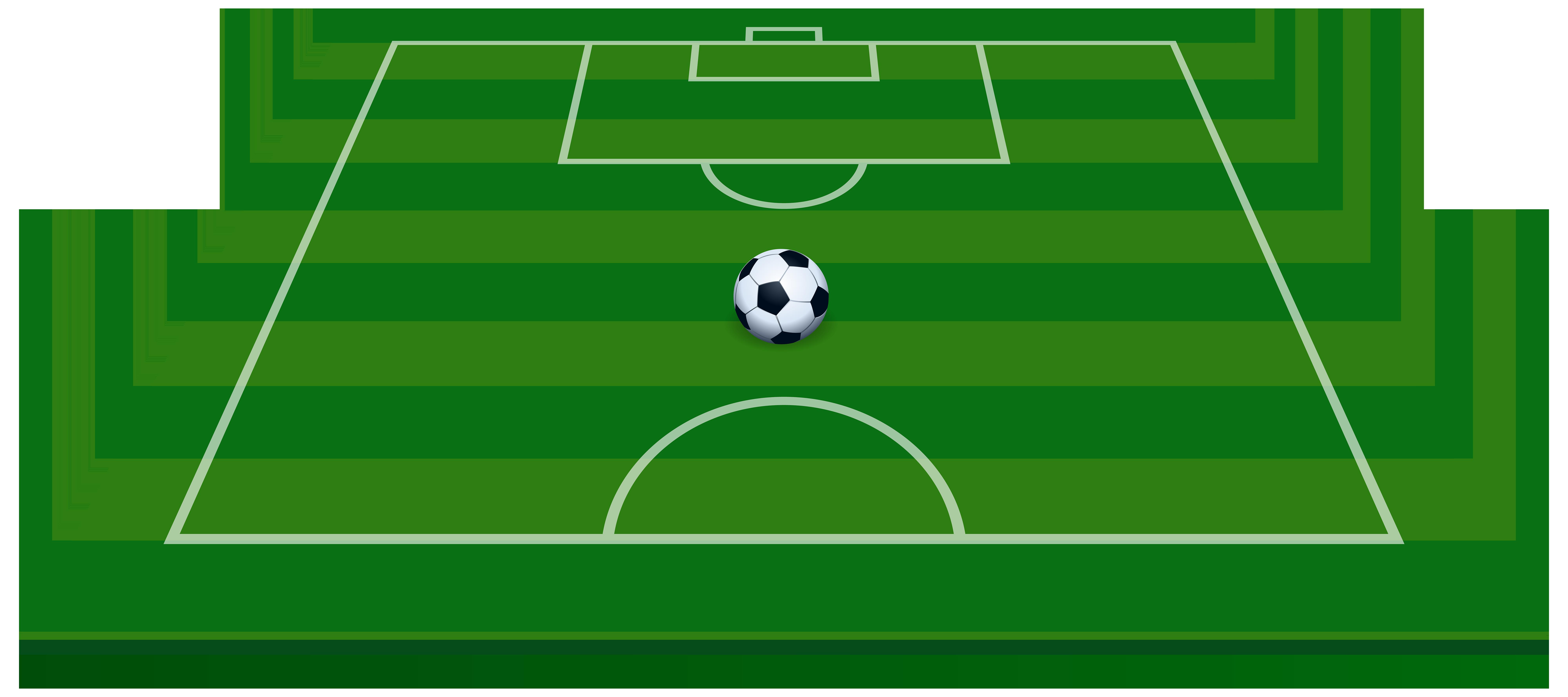 Soccer Field Transparent PNG Clip Art Image.