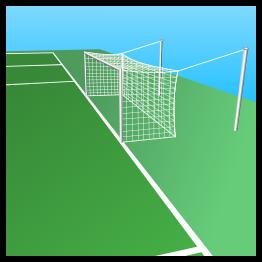 School soccer field clipart.