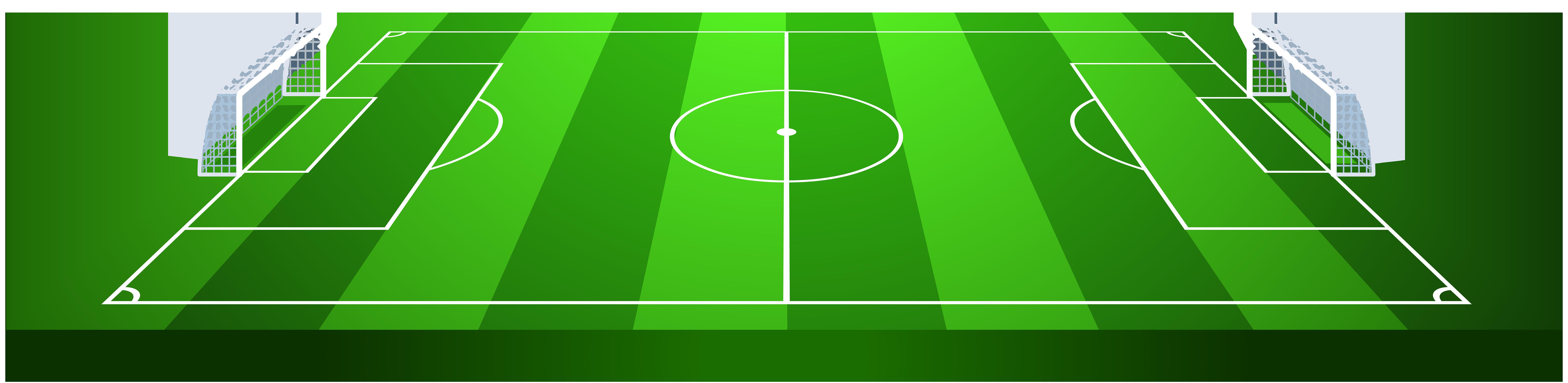Soccer Field PNG Transparent Clip Art Image.