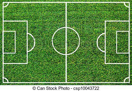 Soccer field clipart vector.