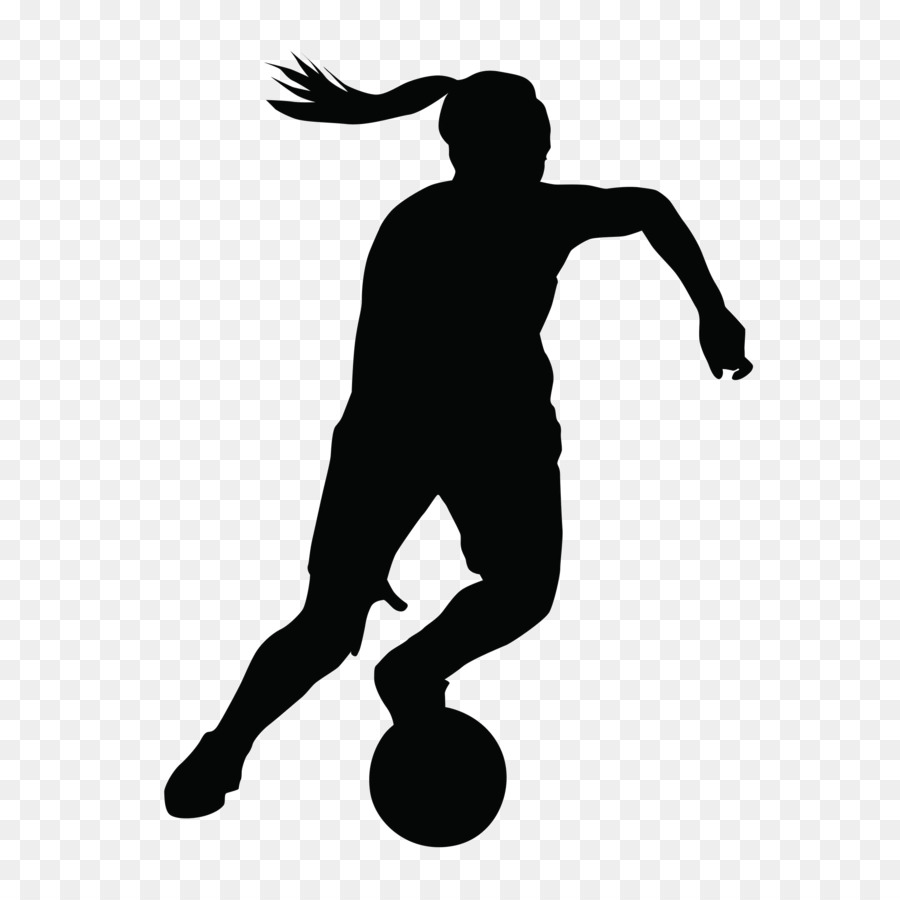 Free Soccer Silhouette Girl, Download Free Clip Art, Free.