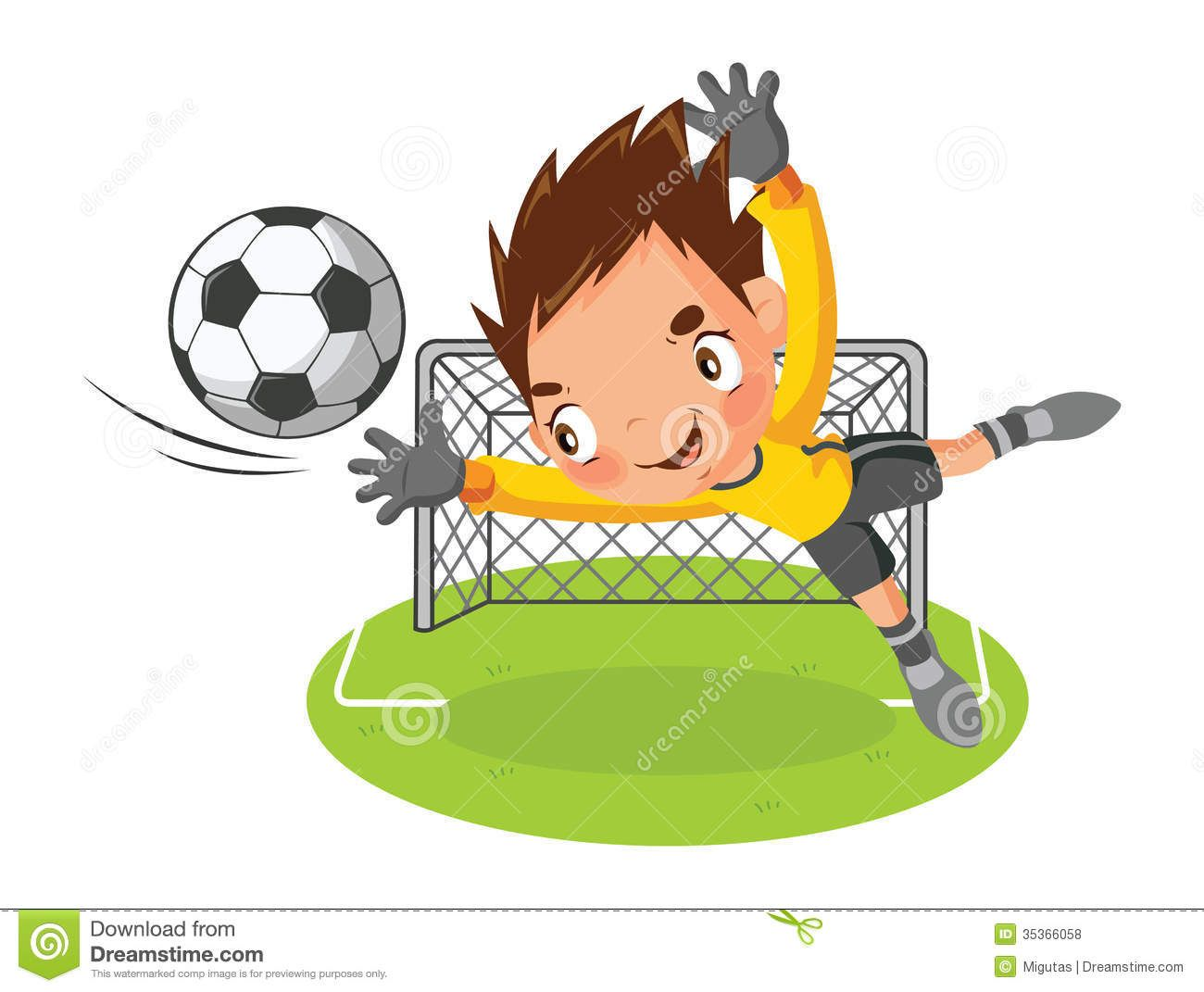 goalie clip Art.