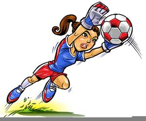 Girl Soccer Goalie Clipart.