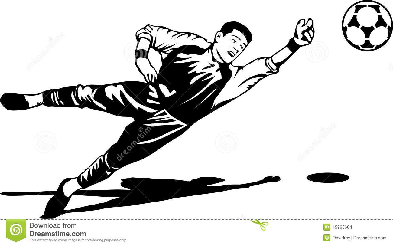 Soccer goalie clipart black and white » Clipart Station.