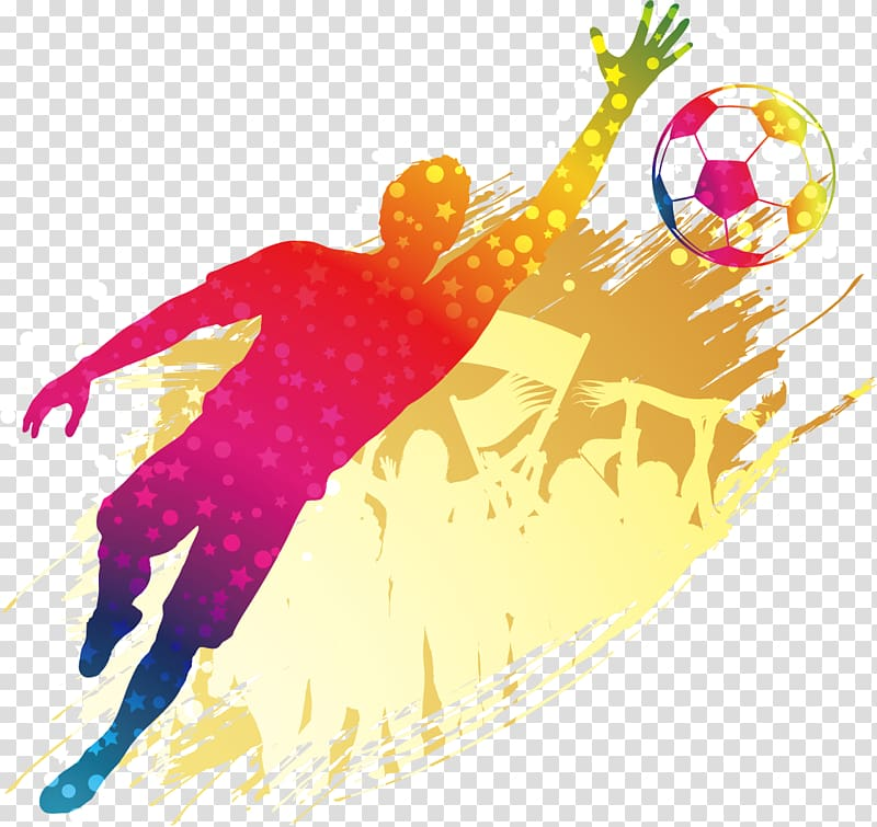 Sports illustration, Goalkeeper Football player Poster.