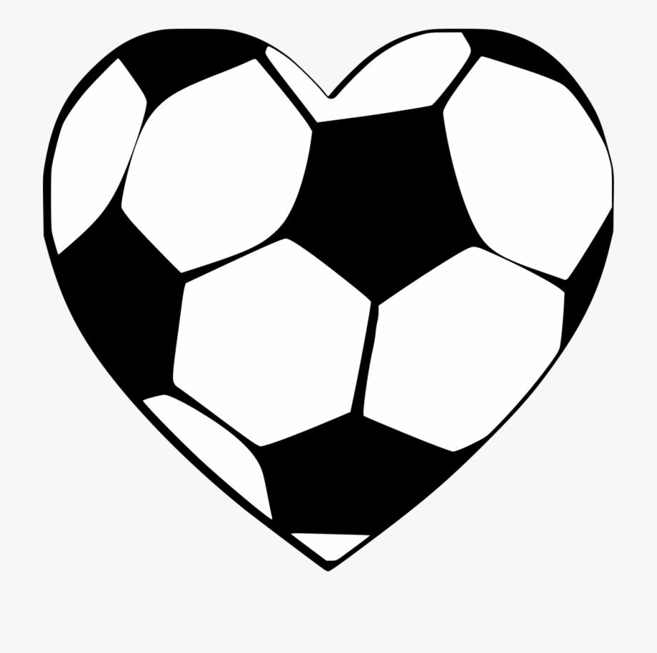 Heart Shaped Soccer Ball Svg.