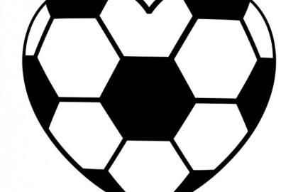 heart shaped soccer ball clipart.