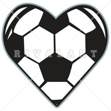 Heart Shaped Soccer Ball Clip Art Clipart.