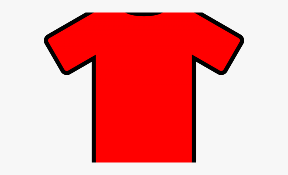 Red Soccer Jersey Clipart.