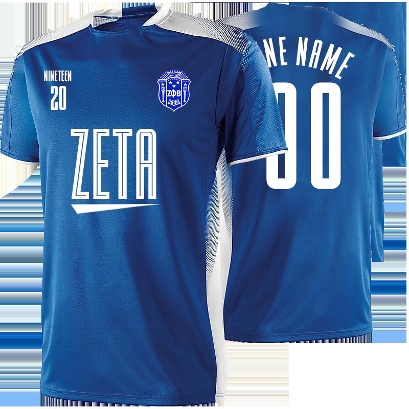 Zeta Phi Beta Away Soccer Jersey.