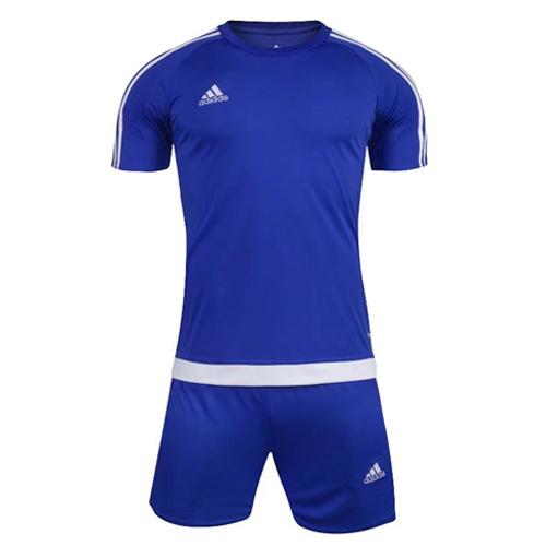 1602 Customize Team Blue Soccer Jersey Kit(Shirt+Short).
