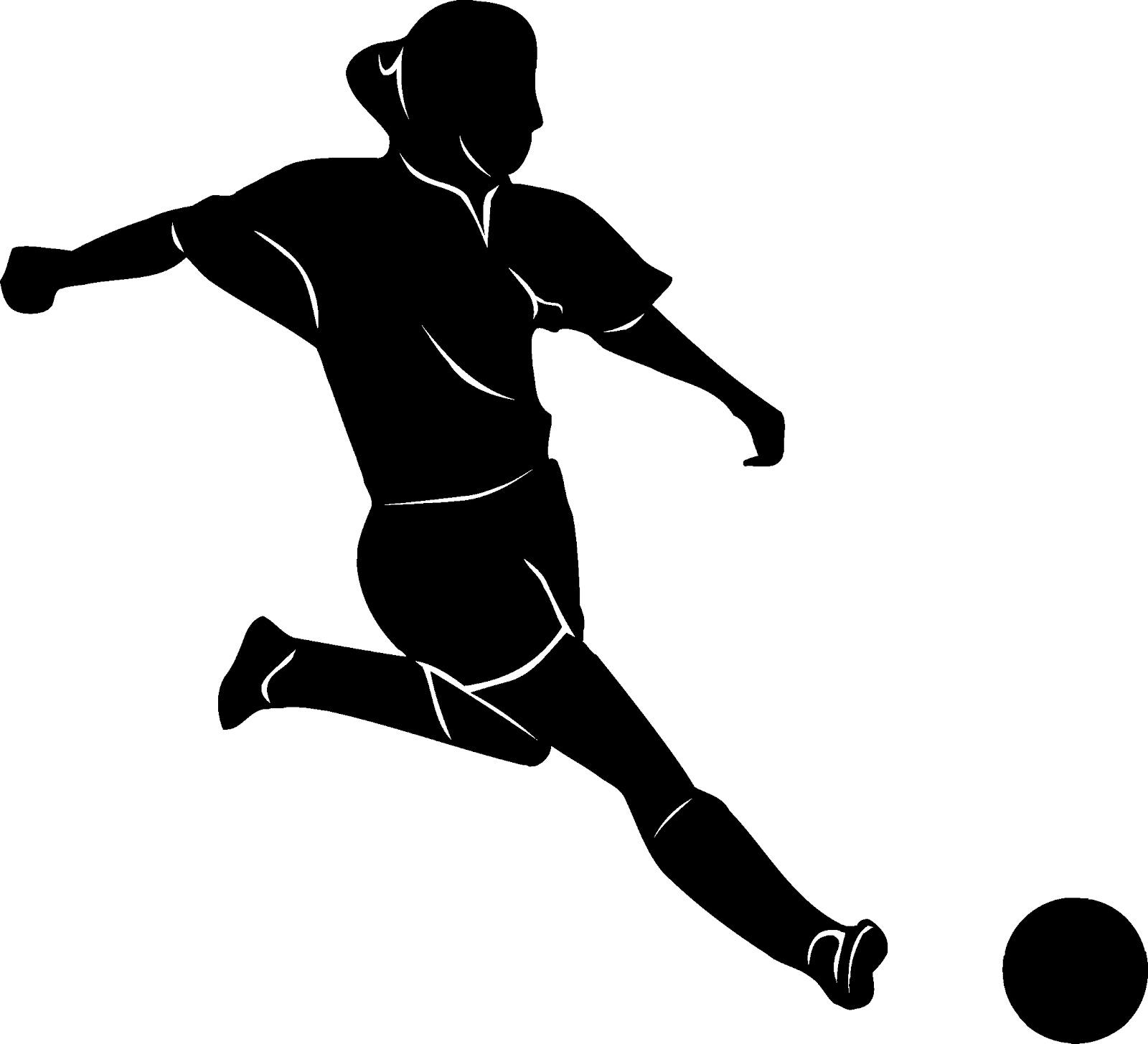 Girl Kicking Soccer Ball Clipart.